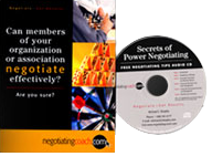 Receive a complimentary audio CD of useful negotiation tips when you request a COMPLIMENTAY 30-minute consultation!