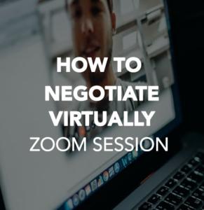 How to Negotiate Virtually
