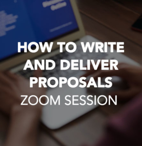 How to Write and Deliver Proposals
